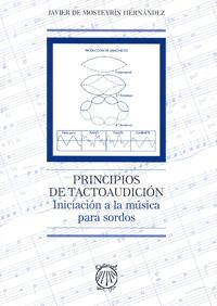 """Portada del libro """"Principios de Tactoaudición. Iniciación a la música para sordos""""."""