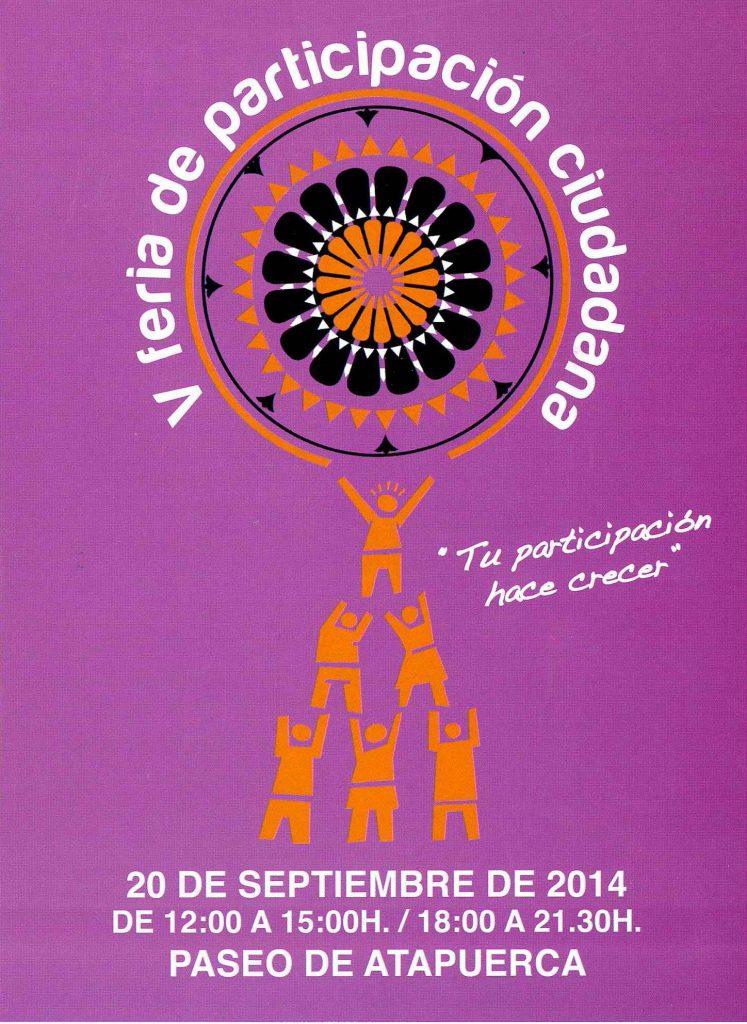 Portada tríptico V Feria de participación ciudadana