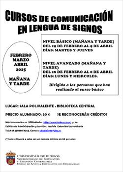 Cartel curso Lse en la Universidad de Burgos