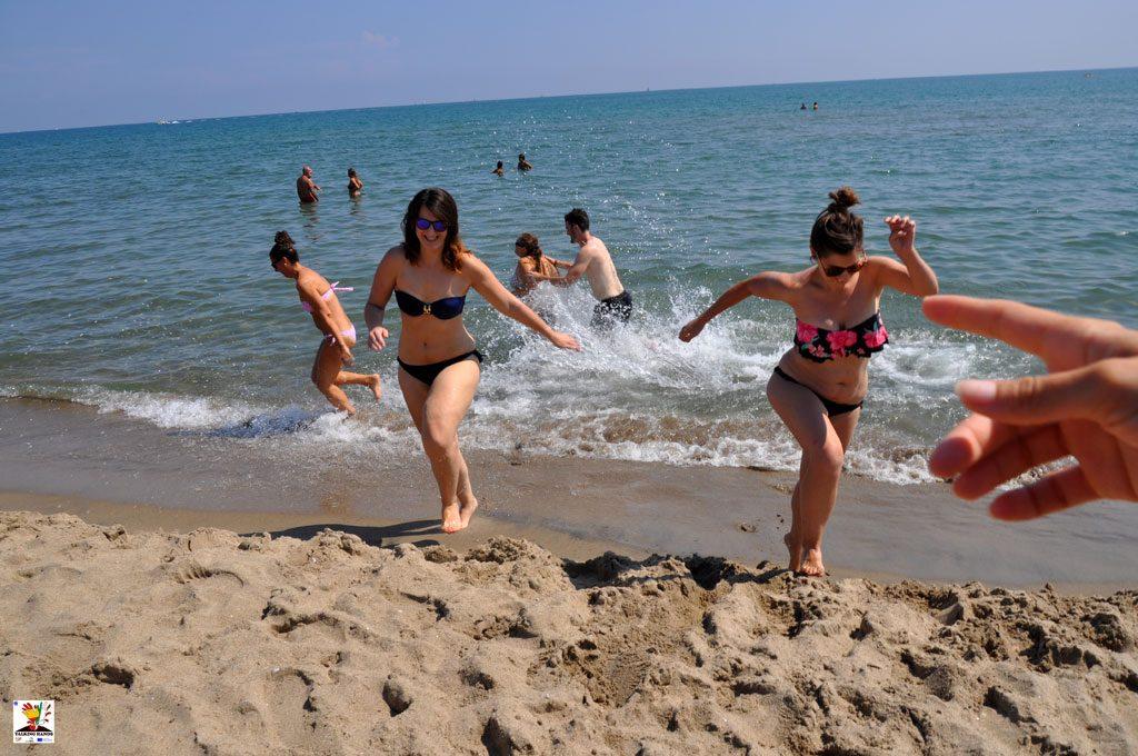 En la playa de Catania