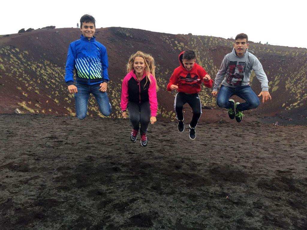 En el Monte Etna