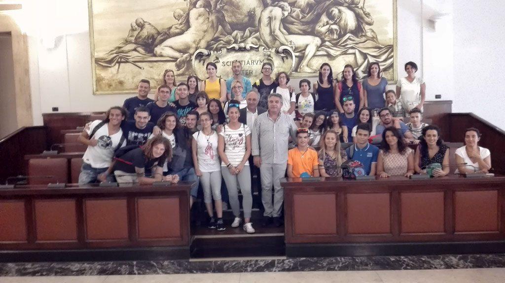 Con el alcalde de Catania