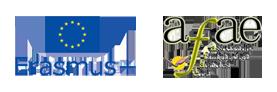 Logos de Erasmus + y AFAE, colaboradores del Encuentro