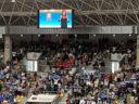 Himno a Burgos en Lengua de Signos en los partidos del San Pablo