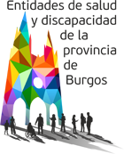 Logotipo del I Encuentro de Entidades de Salud y Discapacidad de la Provincia de Burgos