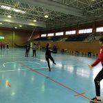 Practicando el balonmano