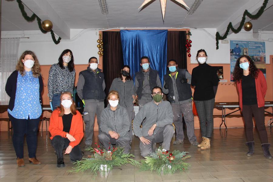 Alumnos, profesionales de la Escuela y de ARANSBUR