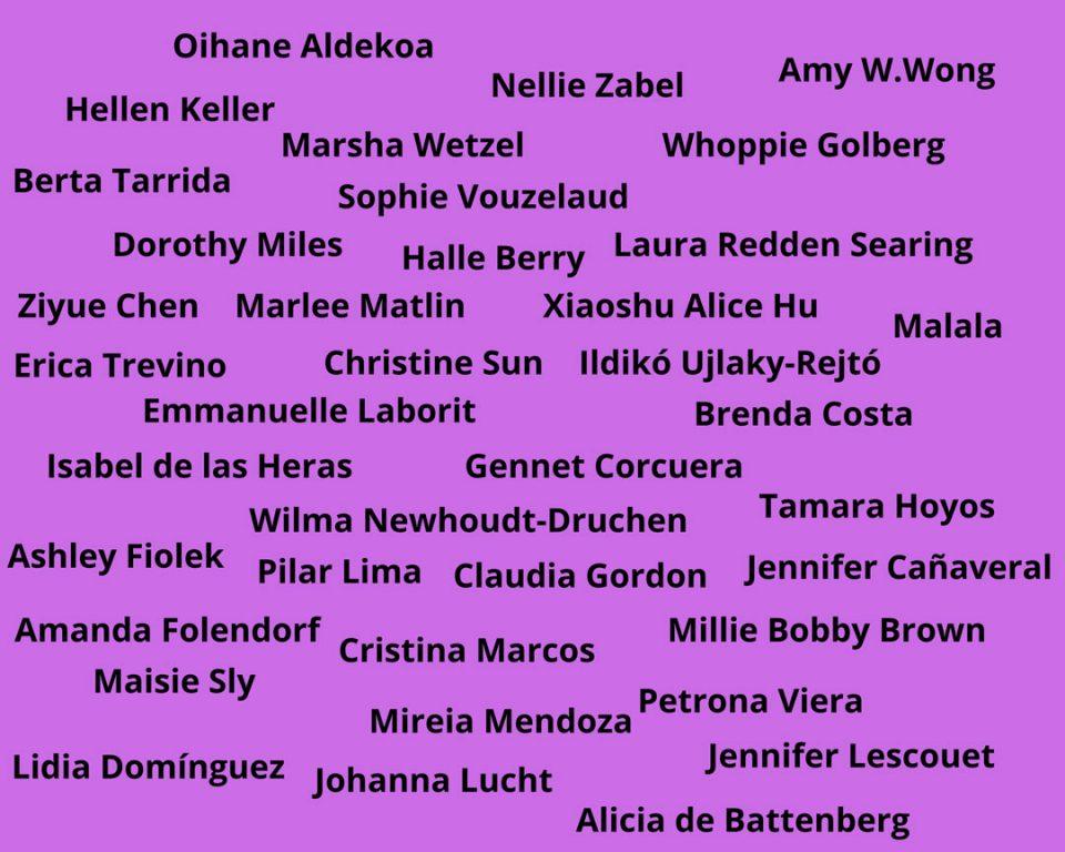 Nombres de mujeres sordas influyentes